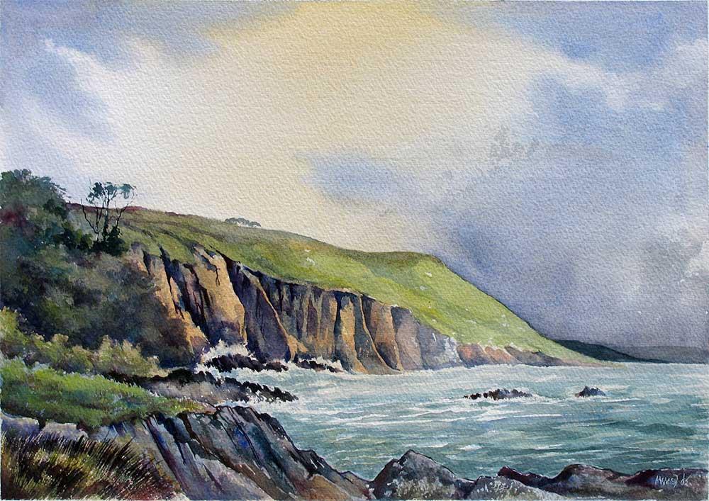 Cliffs at Stoke Beach, South Hams