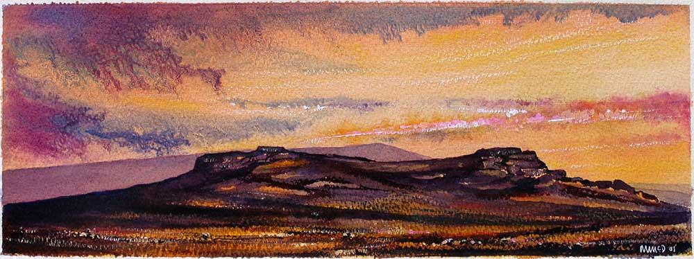 Saddle Tor at Sunset