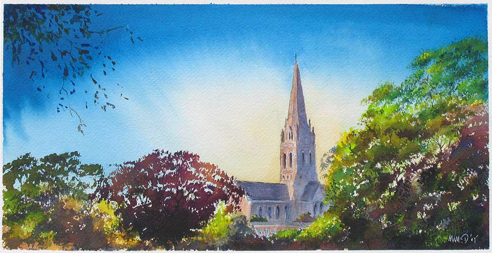 St Michael's Church, Mount Dinham, Exeter. Summer Evening