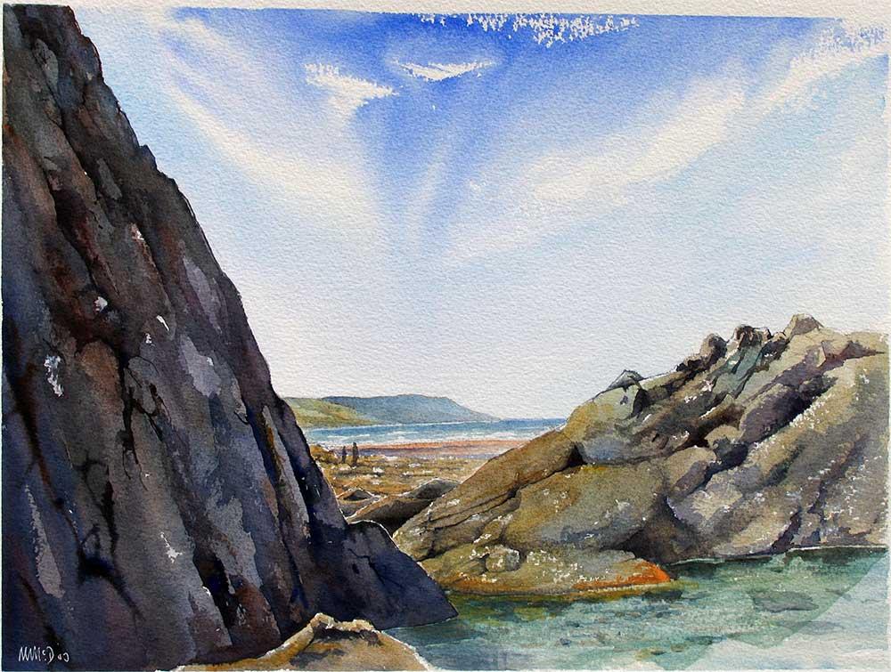 Rocks at Widemouth Beach, North Devon